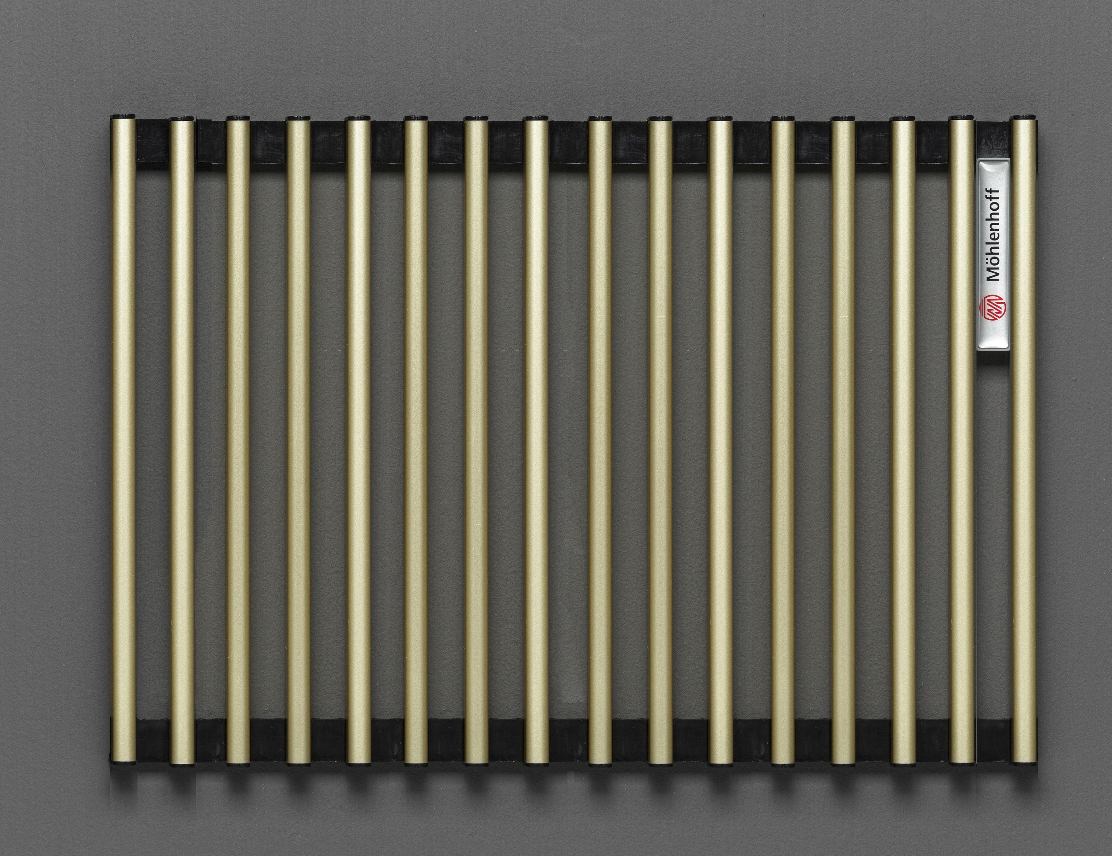 Купить Декоративная решётка Mohlenhoff светлая латунь, шириной 410 мм 1 пог. м, Россия