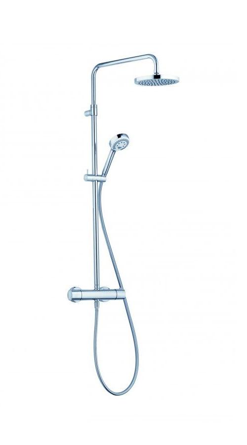 Душевая система с термостатом, ручным и верхним душем Kludi Logo 3 режима, хром 6809205-00