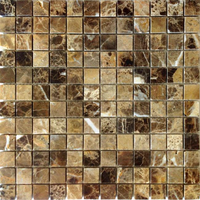 Купить Мозаика Caramelle Mosaic Pietrine 7mm Emperador Dark Pol (2, 3x2, 3) 29, 8x29, 8, Китай