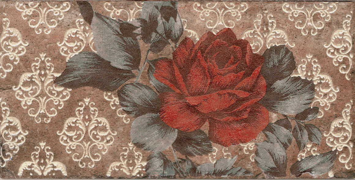 Купить Керамогранит Serenissima Chicago Декор Inserto Vintage Roses Old Chicago (комп/2шт) 10х20, Италия
