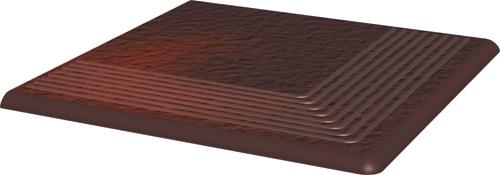 Купить Керамическая плитка Grupa Paradyz Cloud Brown Duro Ступень рифленая наружная 30х30х1, 1 (шт), Польша