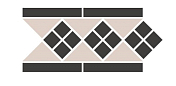 Керамогранит Top Cer Octagon Border LISBON 1 with 1 strip Stand. (Tr.16, Dots 14, Strips 14) бордюр 28,1x15,1