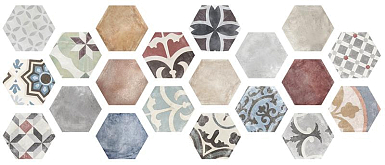 Керамогранит ITT Ceramica Marrakech Hexa (20mix) 23,2х26,7